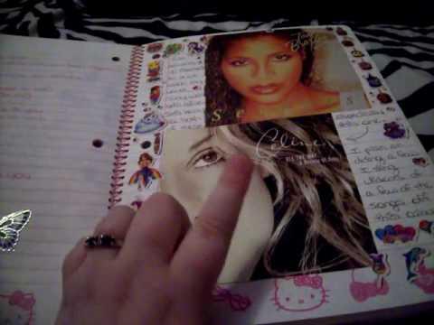 Journal Flip Through #17 (Pink Hello Kitty School Spiral)