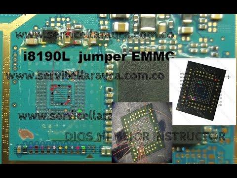 reparacion Samsung I8190 Galaxy S III mini no enciende error en boot , cambio EMMC por jumper HD