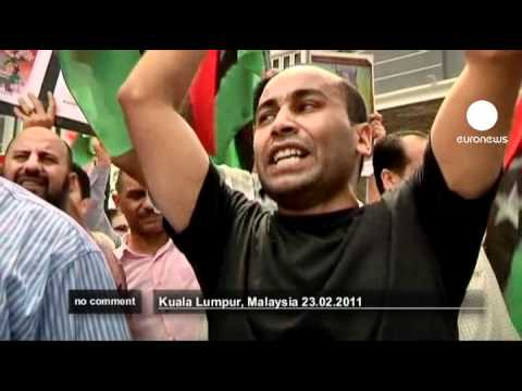 Protest in Malaysia against Libya