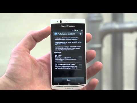 Sony Ericsson Xperia arc S Ice Cream Sandwich walkthrough