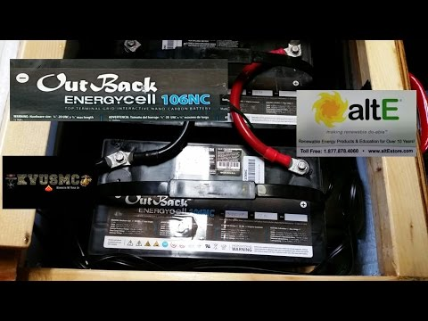 12 Volt Off Grid Solar Battery Bank Cabinet OutBack EnergyCell Nano Carbon 106NC By KVUSMC Pt 5
