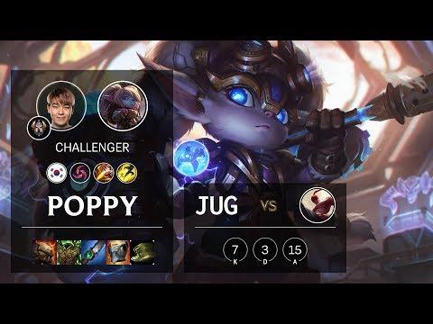 Poppy Jungle vs Lee Sin - KR Challenger Patch 10.7