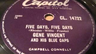 gene vincent - five days, five days + b-i-bickey-bi, bo-bo-go