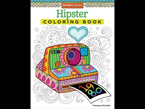 Hipster Coloring Book Slideshow Thaneeya McArdle