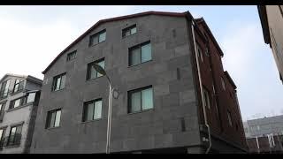 1381 화산석 판재와 띠장, 적벽돌 비늘쌓기 마감, …