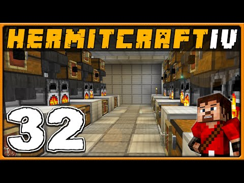 Hermitcraft 4 | Minecraft Survival 1.9 | Ep 32 - Auto Furnace Glass Maker!
