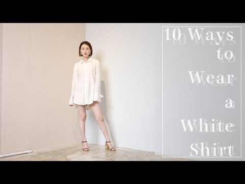 白襯衫的10種穿法 ::10 Ways To Wear A White Shirt