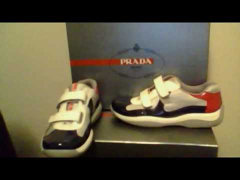 prada red and white