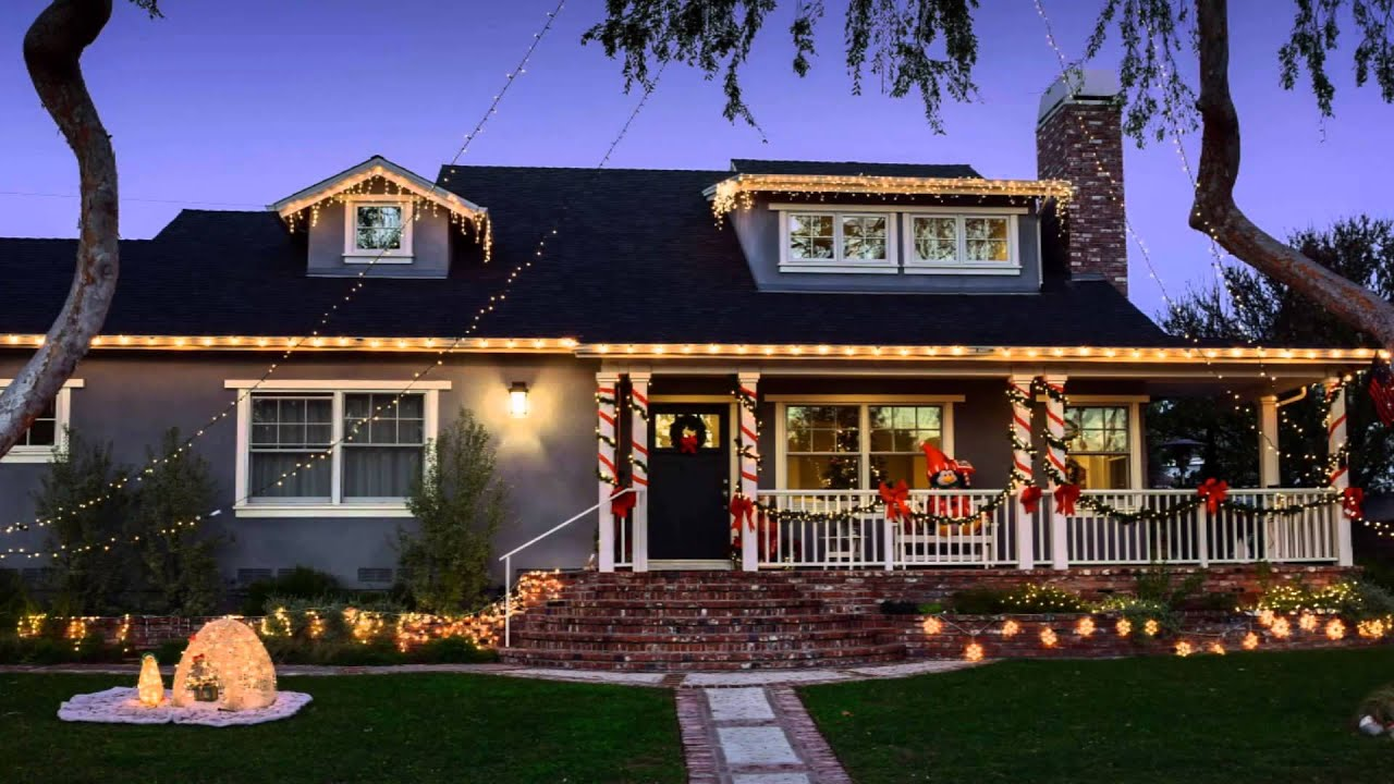 Outside Christmas Light Ideas   Spectacular Photos
