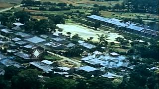 United States Army Air Forces tracer strafe warehouses and barracks in Kyushu, Ja...HD Stock Footage