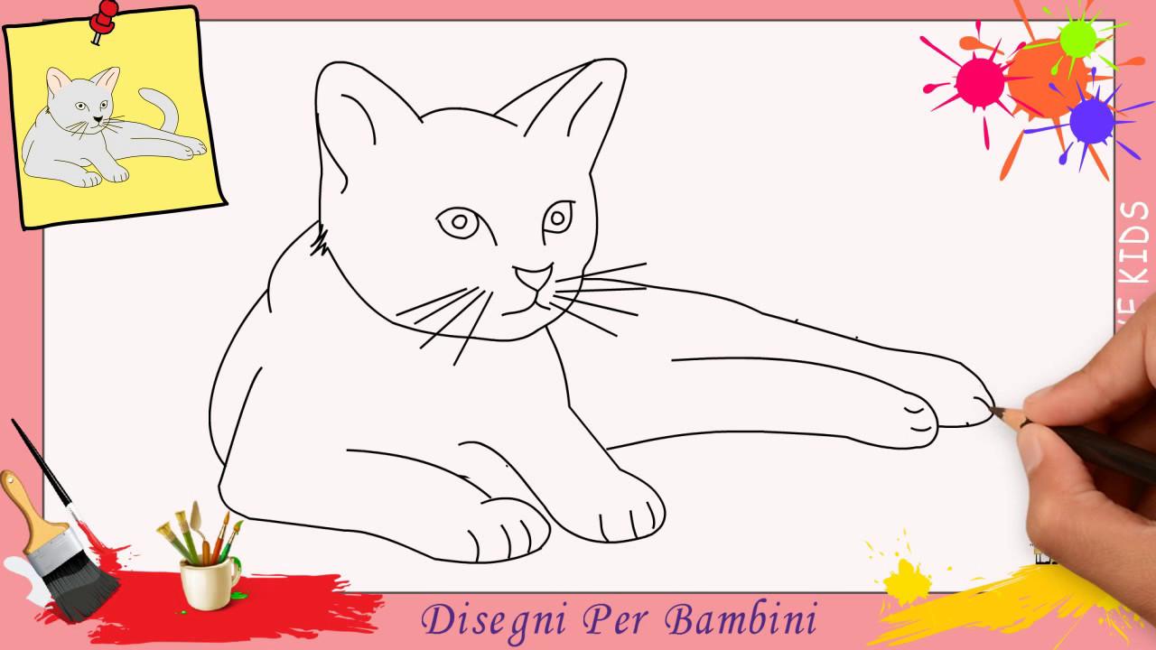 Disegni di gatti 2 come disegnare un gatto facile passo for Immagini di disegni facili