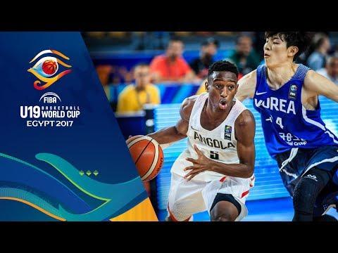 Angola v Korea - Full Game - CL 13-14 - FIBA U19 Basketball World Cup 2017