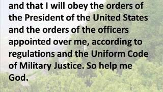 U.S. Armed Forces Oath of Enlistment - Hear the Text