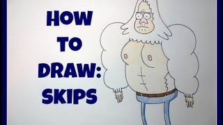 How To Draw Skips ( Regular Show)