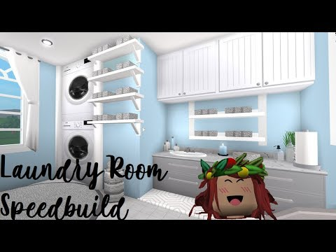 Roblox Bloxburg Laundry Room Speedbuild Youtube