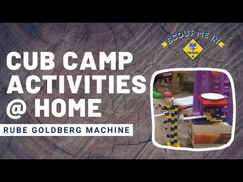 Rube Goldberg Machine - Cub Camp Activities At Home