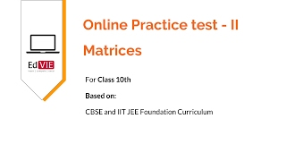 CBSE Matrices - Free Online Practice Tests - Class 10 Mathematics