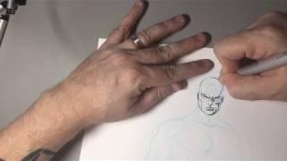 Drawing CAPTAIN AMERICA?? Okay! Let's SKETCH! thumbnail