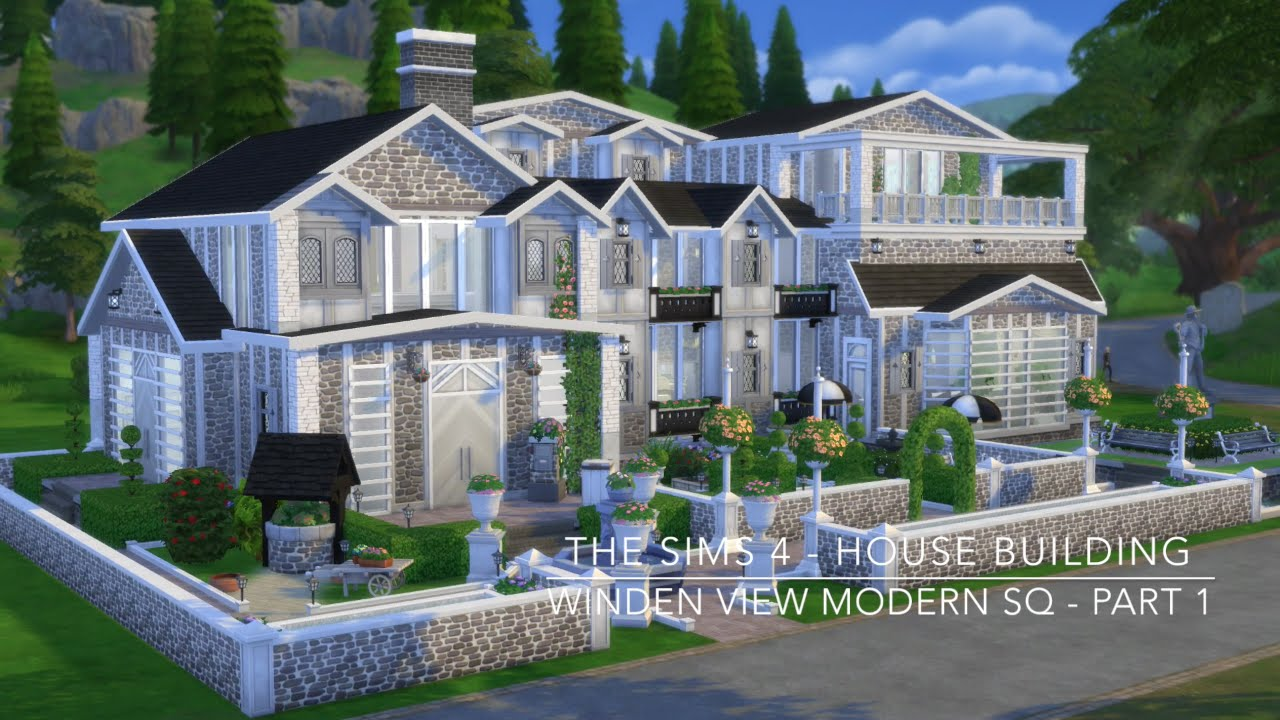 The sims 4 house building winden view modern sq part for Build a modern home for 200k