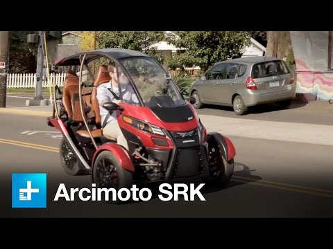 Arcimoto SRK electric car: we test drive this crazy electric vehicle!