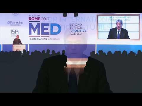 Gentiloni al Forum Rome Med 2017 (02/12/2017)