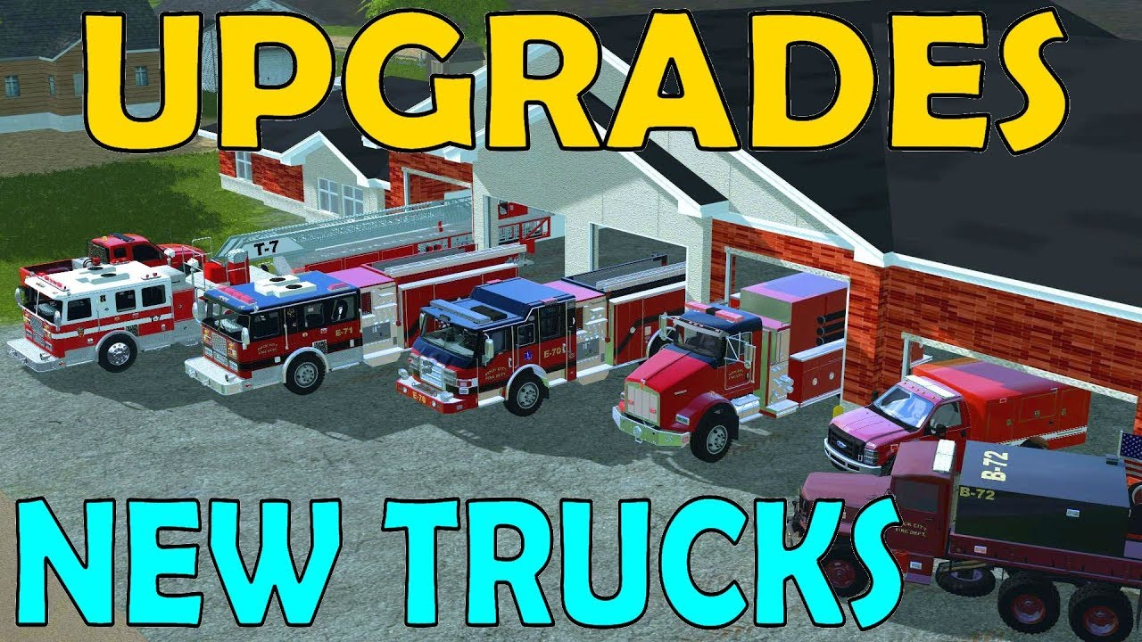 Farming Simulator 17 | Fire Rescue Upgrades | New Engines, Tanker, Rescue &  Brush Truck