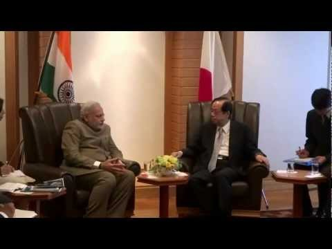 Meeting former PM Mr. Yasu Fukuda and other Japan-India Parliamentarians Friendship Meague Members