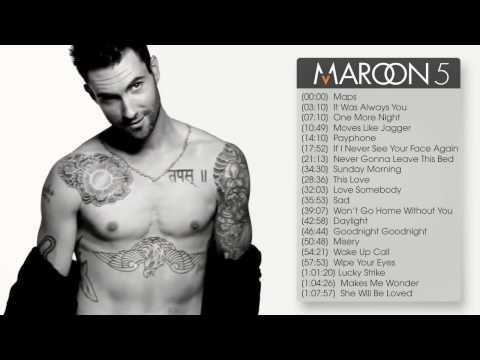 Best songs of Maroon 5