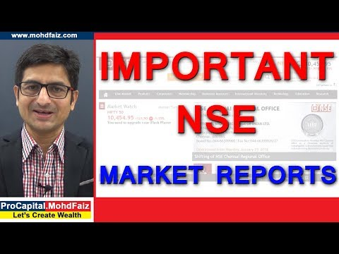 IMPORTANT NSE MARKET REPORTS