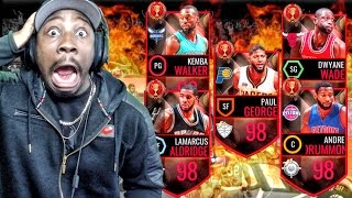 NEW 98 OVERALL BOSSES & STARTING 5 PACK OPENING! NBA Live Mobile 16 Gameplay Ep. 60