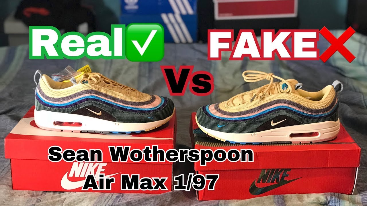 560f248919f038 Nike Air Max 1 97 Sean Wotherspoon REAL VS FAKE (UA) Comparison ...