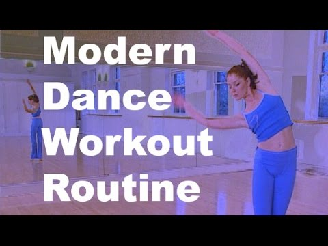 modern dance workout routine and exercise for beginners
