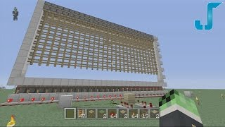 Minecraft Xbox: Biggest Piston Gate [TUTORIAL] 27x10 (Portcullis)