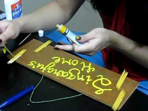 Diy How To Make A Nameboard