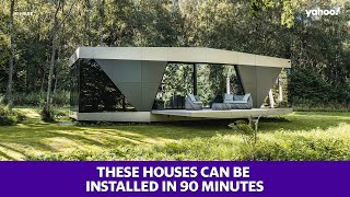 These pre-built houses can be installed in 90 minutes