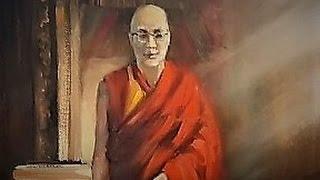 Урок живописи маслом Далай Лама. Художник Александр Южаков