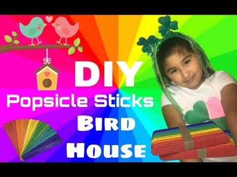 DIY Popsicle sticks Bird House