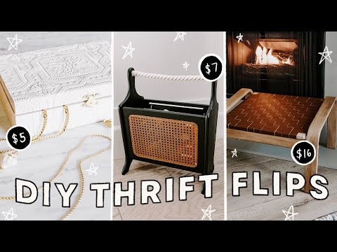 DIY THRIFT FLIPS | Extreme Room Decor Hacks With XO, Macenna