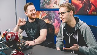 TSM Bjergsen coaches Daniel Platzman from Imagine Dragons
