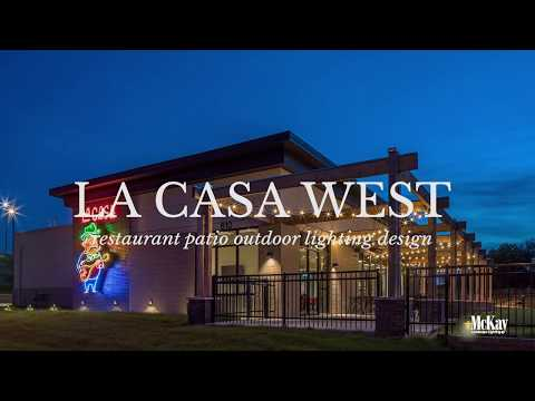 La Casa West | Outdoor Restaurant Patio String Lighting Design - Omaha NE