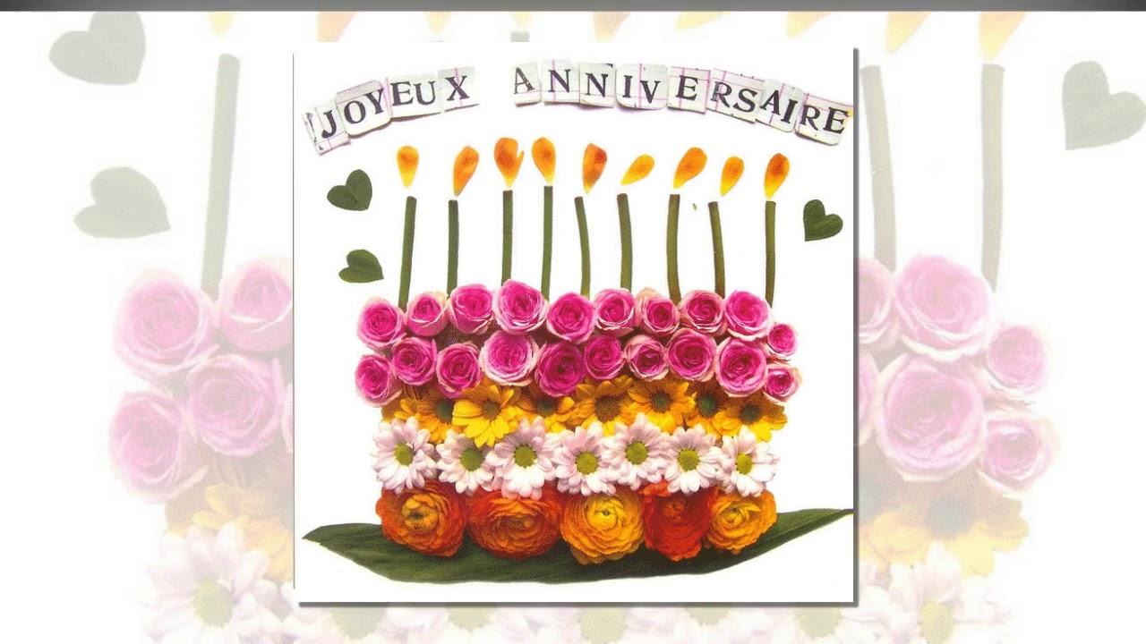 Meilleurs Voeux Danniversaire Rose Joyeux Anniversaire