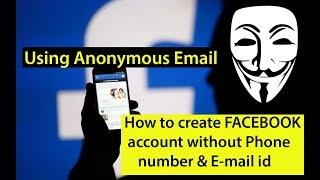 Wie erstellen FACEBOOK-Konto, ohne Persönliche Telefonnummer & E-mail-id / Anonyme E-Mail