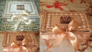 #DIYHOMEDECOR#DIY JEWELLREY BOX OUT OF WAST  MATERIALS AT HOME/HOW TO MAKE CARDBOARD JEWELLREY BOX