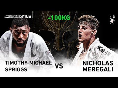 2019 SPYDER INVITATIONAL BJJ CHAMPIONSHIP FINAL -100kg Quarter final : T.Spriggs vs N.Meregali(Full)