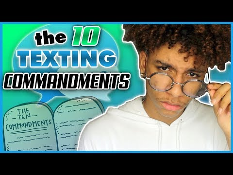 what are the texting rules for dating