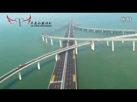 El puente de China mas largo del mundo en el Oceano