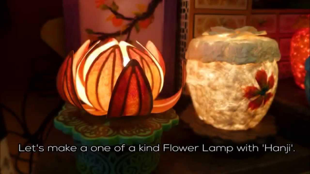 Making a flower lamp hanji art in insadong youtube mightylinksfo Gallery
