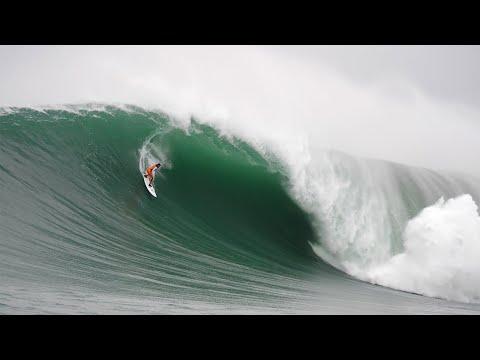 Big-wave surfer Lucas Chumbo snags a giant wave at Mavericks