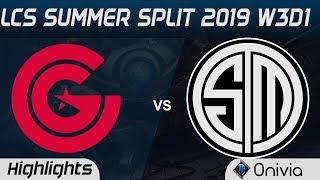 CG vs TSM Highlights LCS Summer 2019 W3D1 Clutch Gaming vs Team Solo Mid LCS Highlights by Onivia
