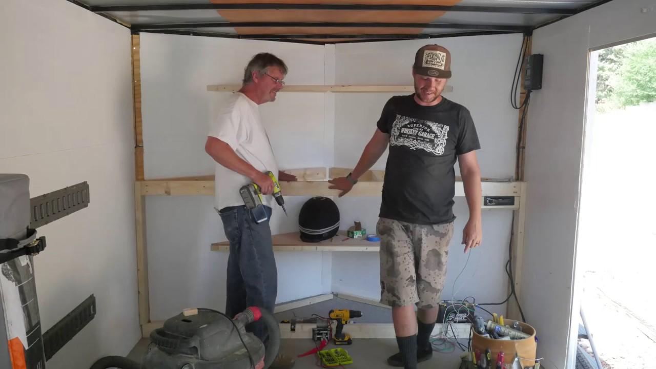 Whiskey Garage VNose trailer work bench build  doggo